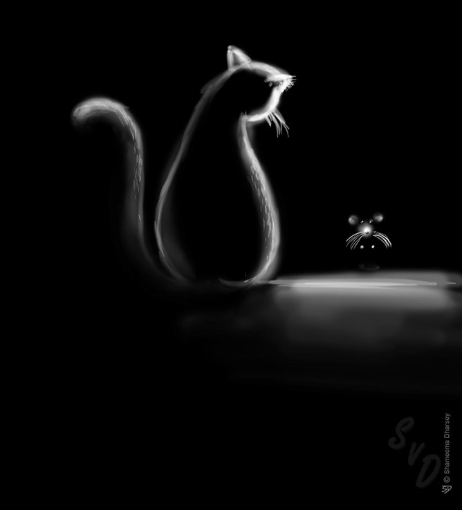 ShamVanDamnArt -Cat and Mouse