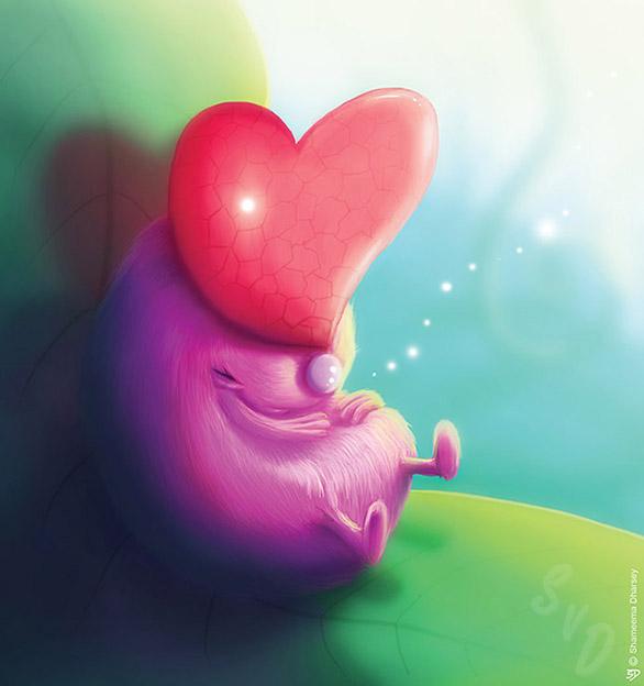 ShamVanDamnArt -Heartbug
