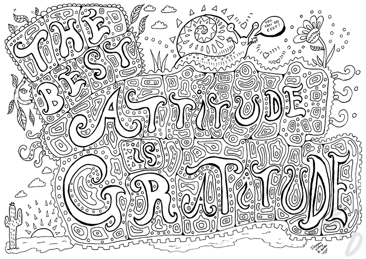 ShamVanDamnArt -The best Attitude is Gratitude